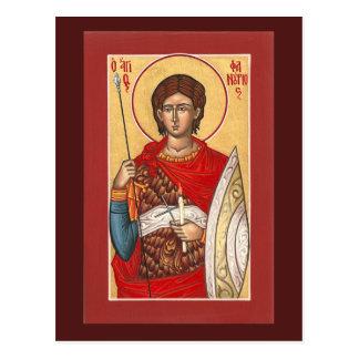 Tarjeta del rezo del St. Phanourios Tarjeta Postal