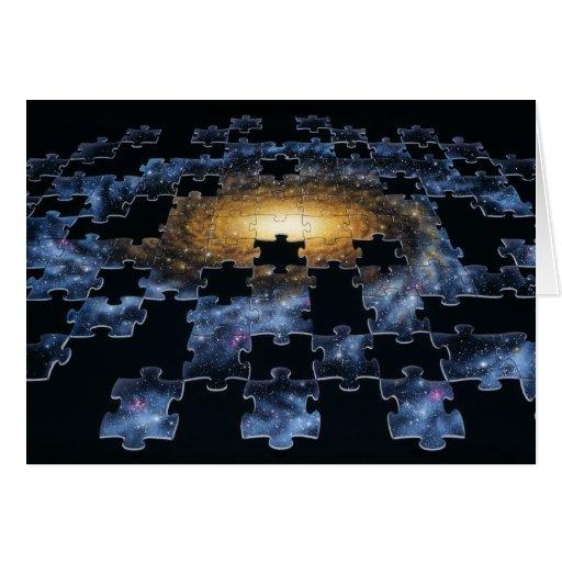 Tarjeta del rompecabezas de la galaxia