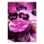 Tarjeta del rosa de la mamá del amor de la magdale