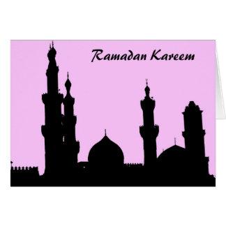 Tarjeta del rosa de la mezquita del Ramadán