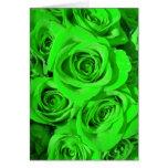 Tarjeta del rosa verde