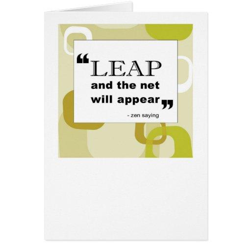 tarjeta del salto