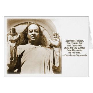 Tarjeta del saludo/de nota. Afirmación por Yoganan