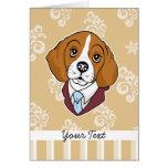 Tarjeta del saludo/de nota del beagle