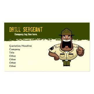 Tarjeta del sargento de taladro visita tarjetas de visita