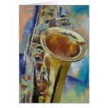 Tarjeta del saxofón