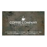 tarjeta del sello del café