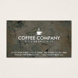tarjeta del sello del café tarjetas de visita