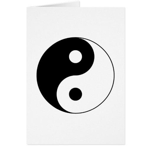 Tarjeta del símbolo de Yin Yang