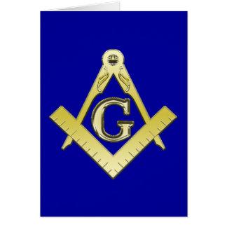 Tarjeta del símbolo del Freemasonry
