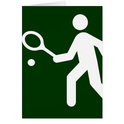 Tarjeta del símbolo del tenis