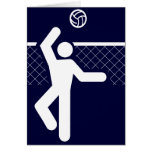 Tarjeta del símbolo del voleibol