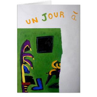 Tarjeta del sitio del verde del libro del artista