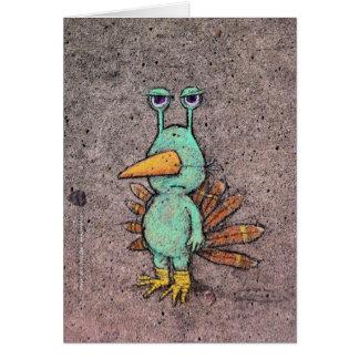 tarjeta del slurkey de la acción de gracias