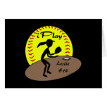Tarjeta del softball de Fastpitch