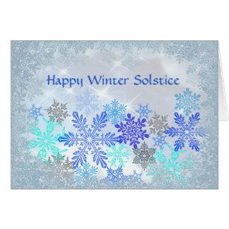 Tarjeta del solsticio de invierno del diseño de lo
