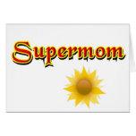 Tarjeta del Supermom