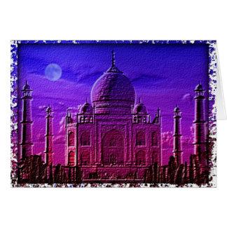 Tarjeta del Taj Mahal