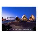 Tarjeta del teatro de la ópera de Sydney