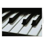 Tarjeta del teclado de piano