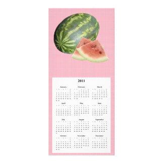 Tarjeta del teléfono y del calendario de la sandía lonas personalizadas