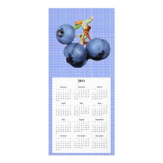 Tarjeta del teléfono y del calendario del arándano tarjetas publicitarias