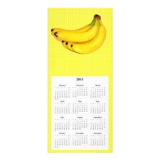 Tarjeta del teléfono y del calendario del plátano lona