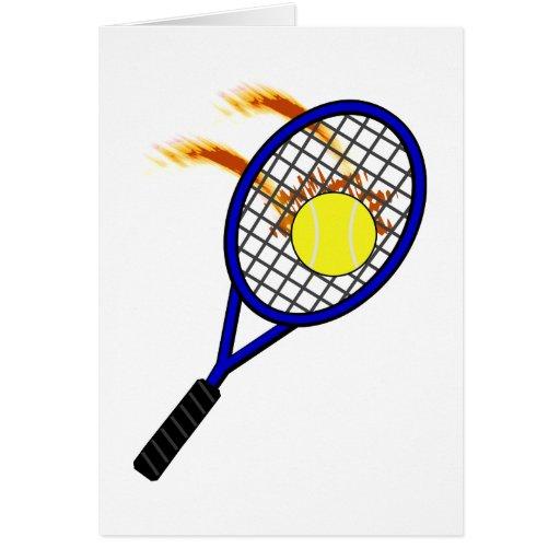 Tarjeta del tenis