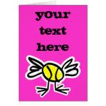 tarjeta del tenis con el texto personalizado