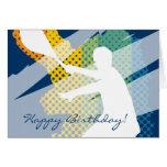 Tarjeta del tenis del feliz cumpleaños para los ho