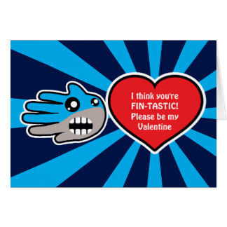 Tarjeta del tiburón de Fintastic de la tarjeta del