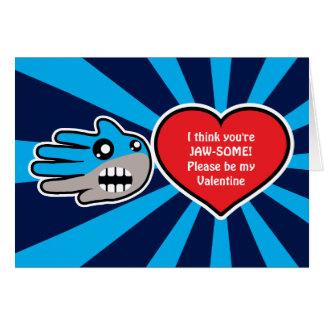 Tarjeta del tiburón de Jawsome de la tarjeta del