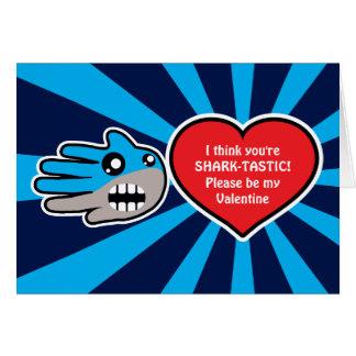 Tarjeta del tiburón de Sharktastic de la tarjeta