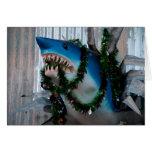 Tarjeta del tiburón del navidad