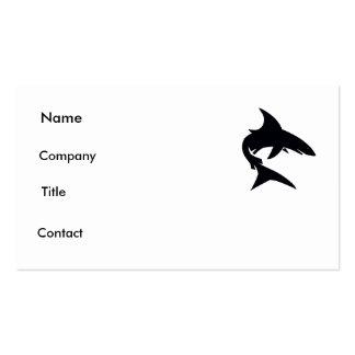tarjeta del tiburón tarjetas de visita