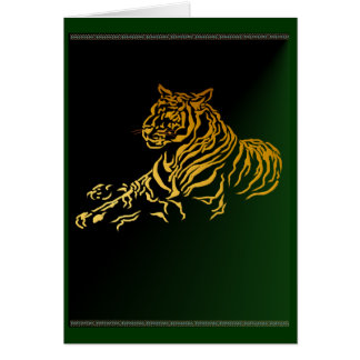 Tarjeta del tigre del oro