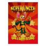 Tarjeta del tío cumpleaños - tío estupendo - ratón