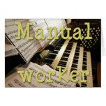 Tarjeta del trabajador manual