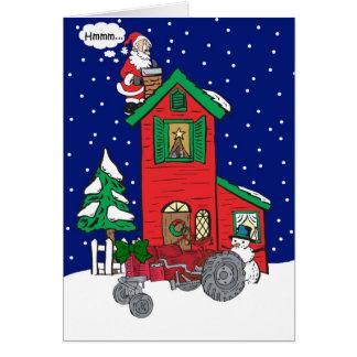 Tarjeta del tractor del vintage de los deseos del
