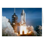 """Tarjeta del """"transbordador espacial"""""""