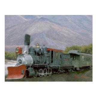 Tarjeta del tren de la paleta tarjetas postales