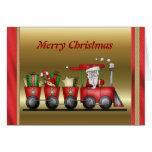 Tarjeta del tren del navidad