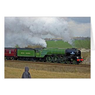 Tarjeta del tren del vapor