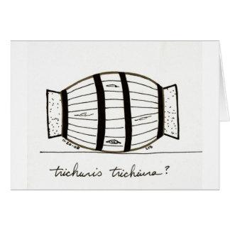 Tarjeta del trichiuria de Trichuris