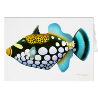 Tarjeta del Triggerfish del payaso