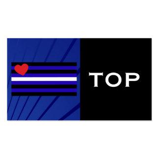Tarjeta del truco de la bandera de orgullo de cuer tarjeta de negocio
