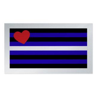 Tarjeta del truco de la bandera de orgullo de cuer tarjetas de negocios