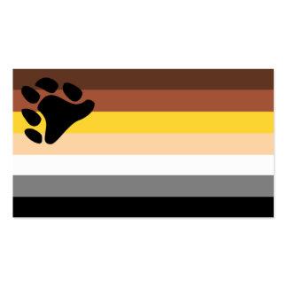 Tarjeta del truco de la bandera del oso tarjetas de visita