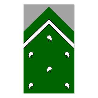 Tarjeta del truco del pañuelo del verde caqui/tarj tarjetas de visita
