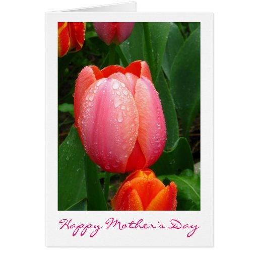 Tarjeta del tulipán del día de madre